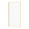 Arezzo Brushed Brass Framed Fixed Bath Screen (800 x 1500mm) profile small image view 1