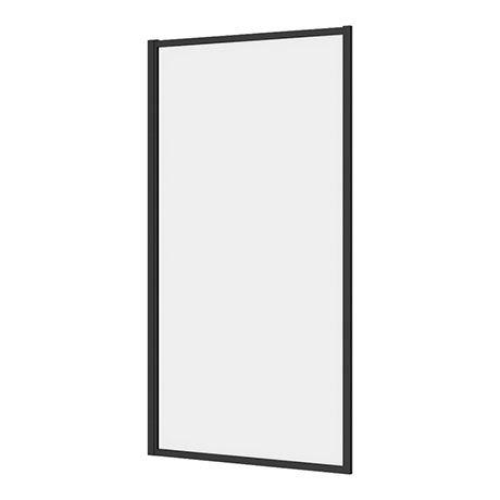 Arezzo Matt Black Framed Fixed Bath Screen (800 x 1500mm)