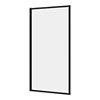 Arezzo Matt Black Framed Fixed Bath Screen (800 x 1500mm) profile small image view 1