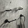 Arezzo Industrial Style Matt Black 4-Piece Bathroom Accessory Pack profile small image view 1