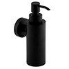 Arezzo Matt Black Round Wall Mounted Soap Dispenser profile small image view 1