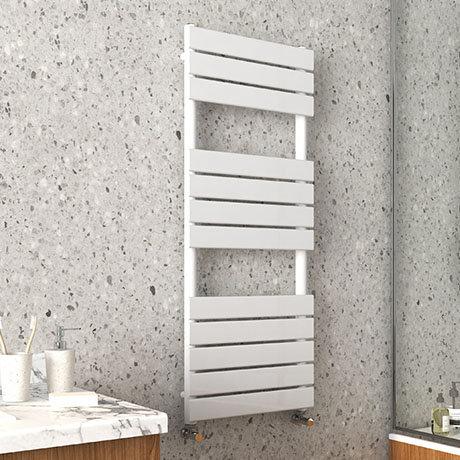 Arezzo Matt White 1200 x 490mm Heated Towel Rail
