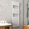 Arezzo Matt White 1500 x 500mm Heated Towel Rail profile small image view 1
