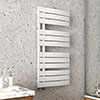 Arezzo Matt White Designer Heated Towel Rail 1080 x 550mm profile small image view 1