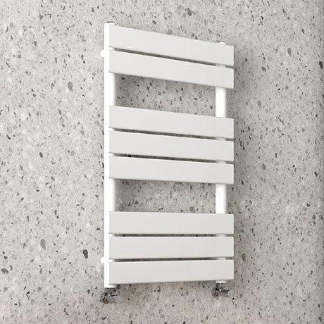 Arezzo Matt White 800 x 490mm Heated Towel Rail