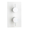 Arezzo Matt White Round Modern Twin Concealed Shower Valve with Diverter profile small image view 1