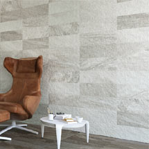 Arezzo Silver Grey Stone Effect Wall and Floor Tiles - 200 x 600mm Medium Image
