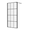 Side Panel for Arezzo Matt Black Grid Pivot Shower Door profile small image view 1
