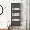 Arezzo Anthracite 1200 x 500 Designer Panel Radiator with Towel Rails profile small image view 1