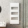 Arezzo White 1200 x 500 Designer Panel Radiator with Towel Rails profile small image view 1