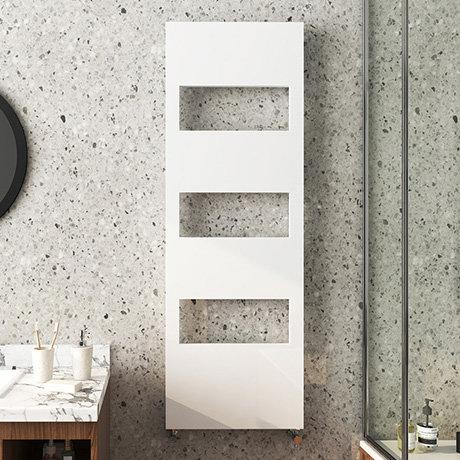 Arezzo White 1500 x 500 Designer Panel Radiator with Towel Rails