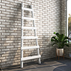 Arezzo White Leaning Ladder 1600 x 600 Heated Towel Rail profile small image view 1