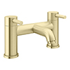 Arezzo Round Brushed Brass Bath Filler Tap profile small image view 1