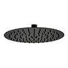 Arezzo Round 250mm Matt Black Fixed Shower Head profile small image view 1