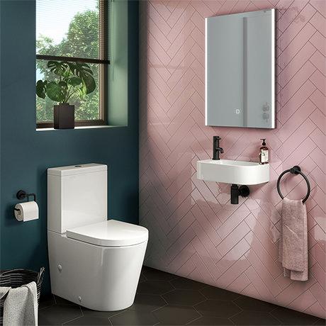 Arezzo Round Cloakroom Suite (Toilet + Basin)