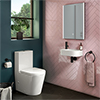Arezzo Round Cloakroom Suite (Toilet + Basin) profile small image view 1