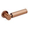 Arezzo Rose Gold Modern Cistern Lever profile small image view 1