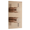 Arezzo Rose Gold Round Modern Twin Concealed Shower Valve with Diverter profile small image view 1