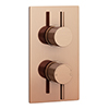 Arezzo Rose Gold Round Modern Twin Concealed Shower Valve profile small image view 1