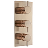 Arezzo Rose Gold Round Modern Triple Concealed Shower Valve profile small image view 1