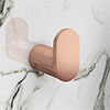 Arezzo Rose Gold Robe Hook profile small image view 1