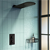 Arezzo Matt Black Round Shower Package w. Concealed Valve + Flat Fixed Shower Head profile small image view 1