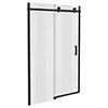 Arezzo Matt Black 1400mm Frameless Sliding Shower Door profile small image view 1