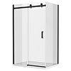 Arezzo Matt Black 1000 x 900 Frameless Sliding Door Shower Enclosure profile small image view 1