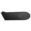 Arezzo Black Round Flat Fixed Shower Head (200 x 480mm) profile small image view 1