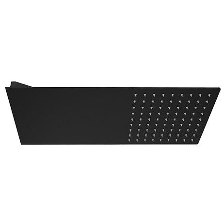 Arezzo Black Square Flat Fixed Shower Head (220 x 500mm)