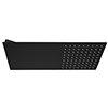 Arezzo Black Square Flat Fixed Shower Head (220 x 500mm) profile small image view 1