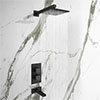 Arezzo Matt Black Shower Set (Fixed Shower Head + Waterfall Bath Filler) profile small image view 1