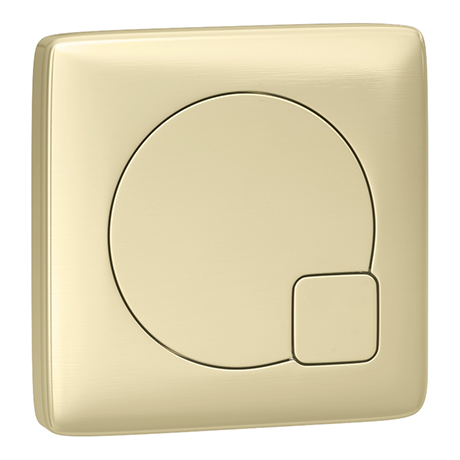 Arezzo Modern Brushed Brass Square Flush Plate - 70 x 70mm