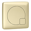 Arezzo Modern Brushed Brass Square Flush Plate - 70 x 70mm profile small image view 1