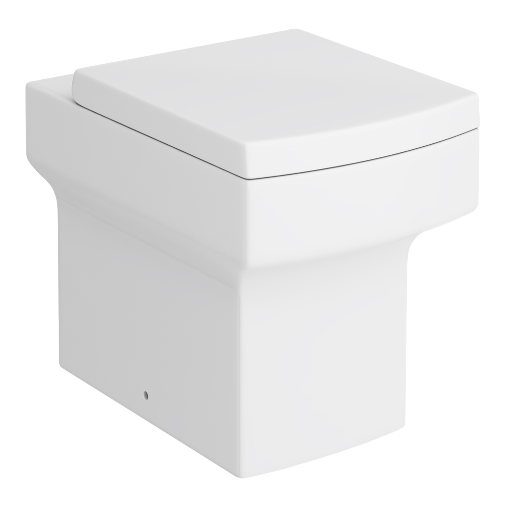 Arezzo Square Back to Wall Pan + Soft Close Seat