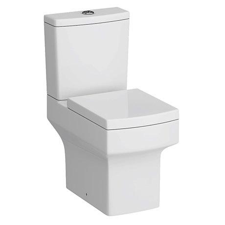 Arezzo Square Close Coupled Toilet + Soft Close Seat