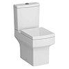 Arezzo Square Close Coupled Toilet + Soft Close Seat profile small image view 1