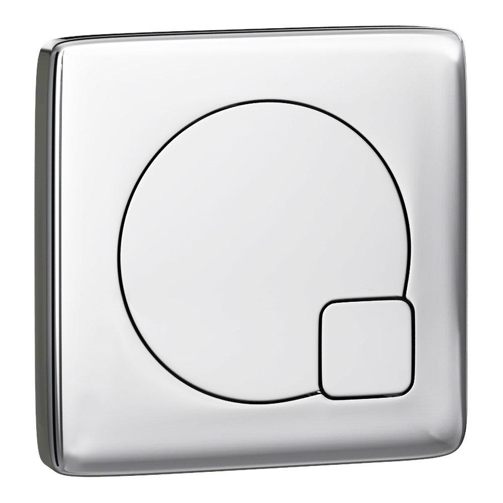 Arezzo Modern Chrome Square Flush Plate - 70 x 70mm