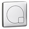 Arezzo Modern Chrome Square Flush Plate - 70 x 70mm profile small image view 1