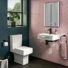 Arezzo Square Cloakroom Suite (Toilet + Basin) profile small image view 1