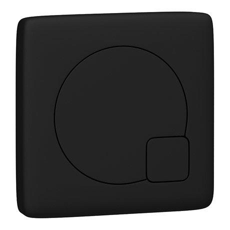 Arezzo Modern Matt Black Square Flush Plate - 70 x 70mm
