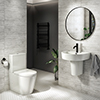 Arezzo 4-Piece Modern Bathroom Suite (Wall Hung Basin + Semi Pedestal) profile small image view 1