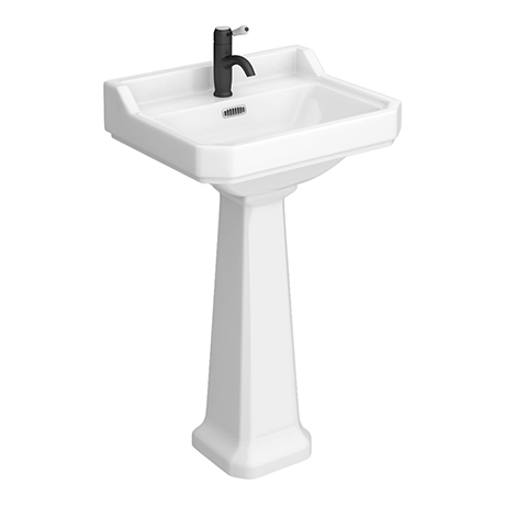 Arezzo Traditional 1 Tap Hole Basin + Pedestal (Various Size Options)