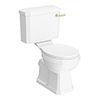 Arezzo Traditional Toilet with Brushed Brass Lever profile small image view 1