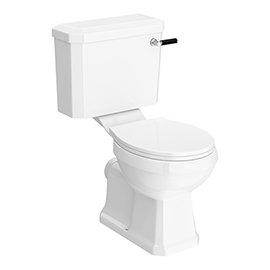 Arezzo Traditional Toilet with Chrome + Matt Black Lever