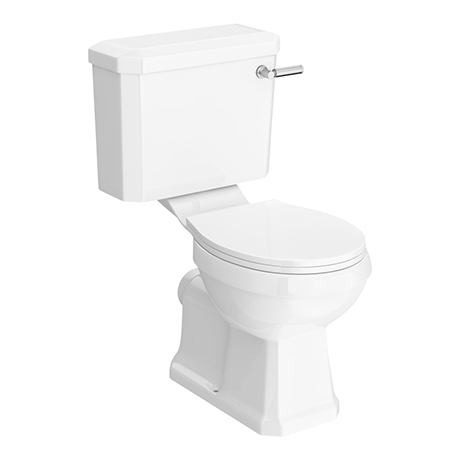 Arezzo Traditional Toilet with Chrome Lever
