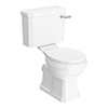 Arezzo Traditional Toilet with Chrome Lever profile small image view 1
