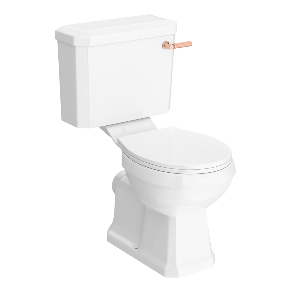 Arezzo Traditional Toilet with Rose Gold Lever