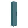 Arezzo Matt Green Wall Hung Tall Storage Cabinet with Matt Black Handle profile small image view 1
