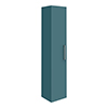 Arezzo Matt Green Wall Hung Tall Storage Cabinet with Chrome Handle profile small image view 1